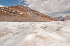 View of glacier and mountain Stock Photos