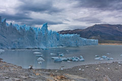 View of a glacier of Perito Moreno. And ice floes in Lake Argentino stock image