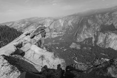 View from Glacier Point Yosemite Royalty Free Stock Photos