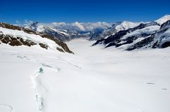 View of glacier in Swiss Alps Royalty Free Stock Photo