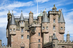 View of Glamis Castle details, Scotland Royalty Free Stock Images