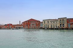 View on glass factory on the island of Murano. royalty free stock photos