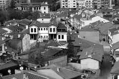 """View from the glass minaret. """"Odunpazari Historical Urban Site"""" is a significant example to cities established totally by the Turks within Anatolia stock photo"""