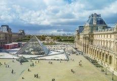 Louvre Museum and The Tuileries Garden, Paris, France Stock Photos