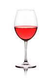A view of a glass of red wine Royalty Free Stock Photos