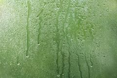 View of glass with water drops. Closeup stock photos