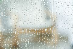 View of glass with water drops. Closeup stock images