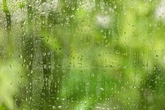 View of glass with water drops. Closeup royalty free stock photo
