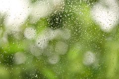 View of glass with water drops. Closeup royalty free stock image