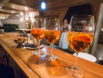 A view of glasses of Aperolspritz Royalty Free Stock Photo
