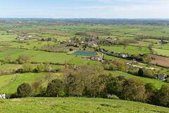 View from Glastonbury Hill of Somerset UK Royalty Free Stock Images