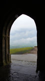 View from Glastonbury tor tower Stock Photo