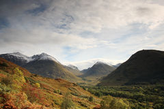 View of the Glencoe Mountains Royalty Free Stock Image