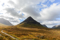 The view of Glencoe from road A82 in Highlands, Scotland in Autumn season Royalty Free Stock Images