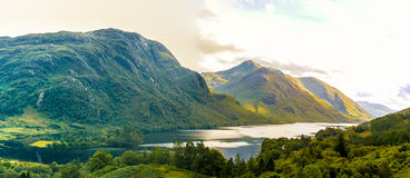 View of Glenfinnan in Highlands mountains in Scotland Stock Images