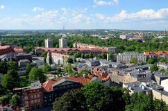 View of the Gliwice in Poland. Silesia region Royalty Free Stock Images