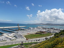 View 9. Global view of the new port of tangier Stock Image