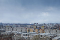 View of a gloomy cityscape Stock Photo