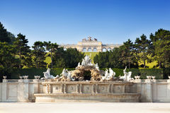 View on Gloriette structure and Neptune fountain Royalty Free Stock Photo