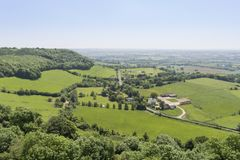 View of the Gloucestershire Countryside, UK Stock Photography