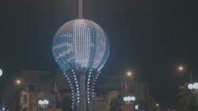 View of the glowing ball stock video