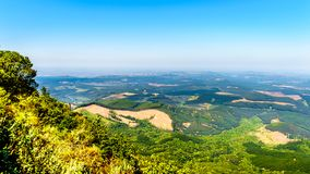 View from God`s Window over the lowveld along the Panorama Route in Mpumalanga Province Royalty Free Stock Images