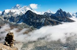 View from gokyo ri to everest Royalty Free Stock Photo