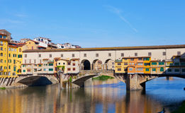 View of Gold (Ponte Vecchio) Bridge Stock Image