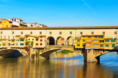 View of Gold (Ponte Vecchio) Bridge Royalty Free Stock Photos