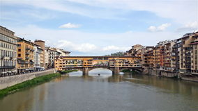 View of Gold (Ponte Vecchio) Bridge Stock Photo