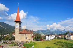 View in Goldau, Switzerland Royalty Free Stock Photography