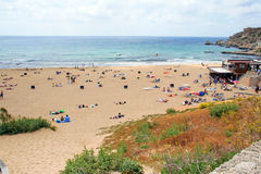 A view of a Golden Bay, Malta Royalty Free Stock Images