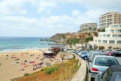 A view of a Golden Bay, Malta Stock Photo