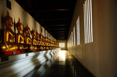 View of Golden Buddha statue.  royalty free stock photo