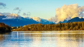 View of the Golden Ears Mountains in British Columbia, Canada Stock Photo