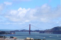 View on Golden Gate Bridge from Coit Tower. royalty free stock photo