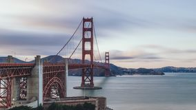 View of the Golden Gate Bridge at Dusk stock images