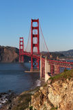 View on Golden Gate bridge in evening light Stock Image