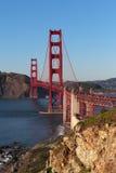 View on Golden Gate bridge in evening light Stock Image