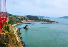 View from Golden Gate Bridge Stock Photography