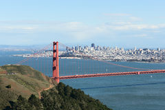 A view of the Golden Gate bridge Stock Images
