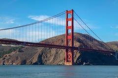 View of the Golden Gate Bridge . San Francisco, California, USA. Beach blue travel sea architecture orange reflection city tourism ocean urban landmark tower royalty free stock photography