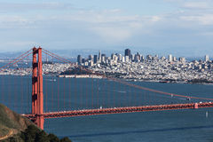 View on Golden Gate bridge and San Francisco Royalty Free Stock Photos