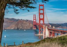 View of the Golden Gate bridgeon a sunny day royalty free stock images
