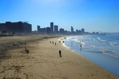 A View of Golden Mile Beach, Durban, South Africa Royalty Free Stock Photos