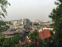 View from Golden Mount. View from the stairs at Golden Mount in Bangkok Thailand Stock Images