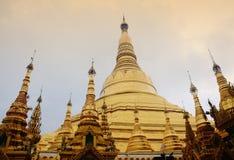 View of golden stupa at Shwedagon in Yangon, Myanmar Stock Photography