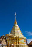 View of the golden stupa at Wat Doi Suthep, Chiang Mai, Thailand Royalty Free Stock Photography