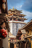 View of the golden temple in historical old town in chinese Royalty Free Stock Photography