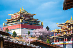 View of the golden temple in historical old town in chinese Stock Photography